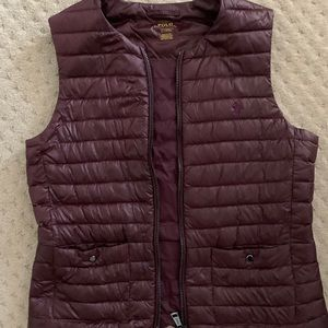 Polo Ralph Lauren wine colored medium vest